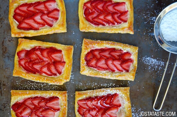5-Ingredient Strawberry Breakfast Pastries recipe on justataste.com