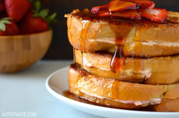 French Toast with strawberries and syrup | French Toast Recipes | A Collection Of The Best Homemade Recipes