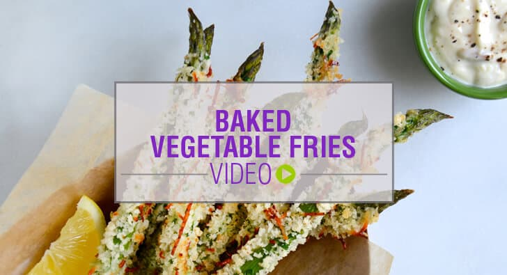 Video: Baked Vegetable Fries Recipe