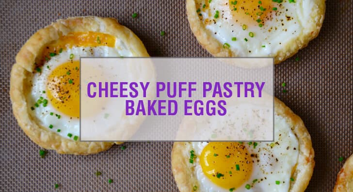 Cheesy Puff Pastry Baked Eggs Recipe