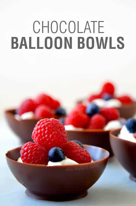 Video: Chocolate Balloon Bowls on justataste.com