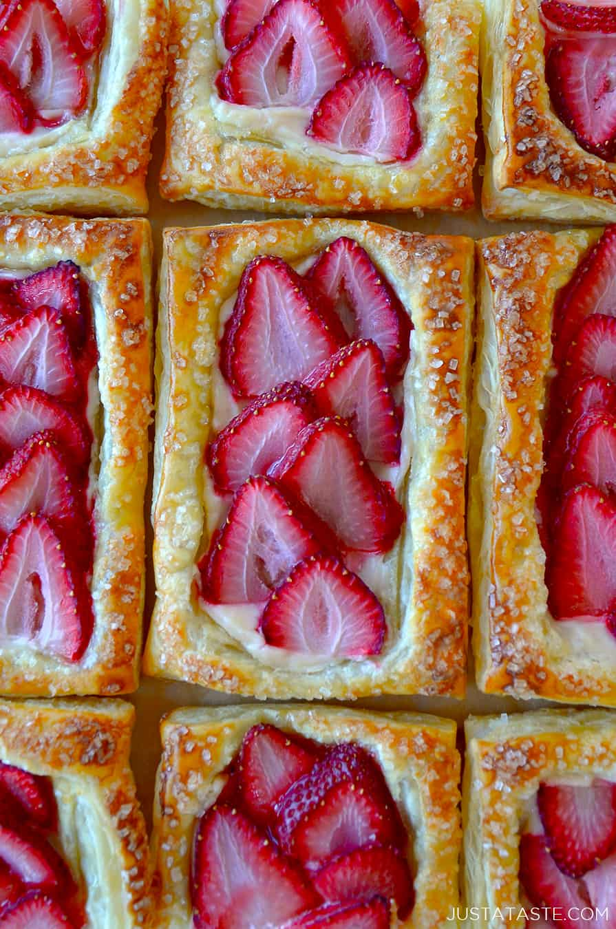 5 Ingredient Strawberry Breakfast Pastries Just A Taste