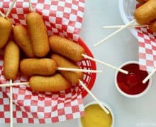 Easy Homemade Mini Corn Dogs