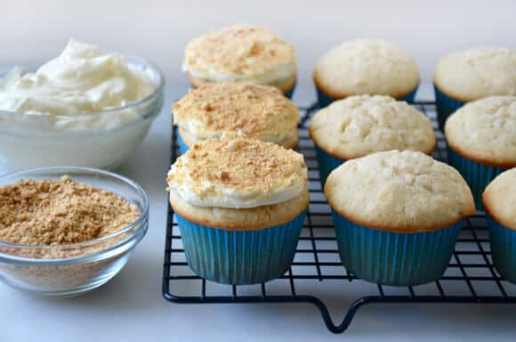 Coconut Cupcakes with Cream Cheese Frosting Recipe on justataste.com