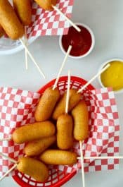 Easy Homemade Mini Corn Dogs Recipe on justataste.com
