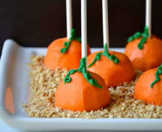 Pumpkin Cheesecake Pops