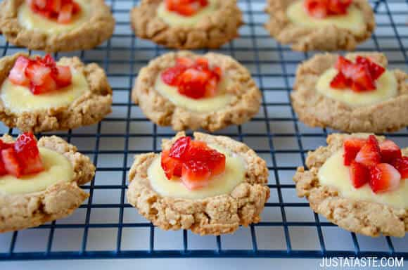 Pin It Strawberry Cheesecake Cookies Recipe On Justataste Com