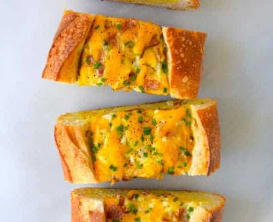 Video: Cheesy Baked Egg and Bacon Boats
