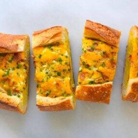 Cheesy Baked Egg and Bacon Boats Recipe