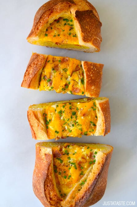 Cheesy Baked Egg and Bacon Boats Recipe