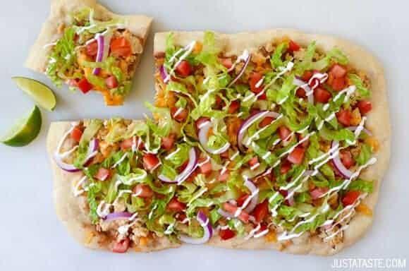Cheesy Chicken Taco Pizza Recipe
