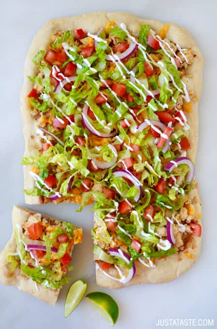 Cheesy Chicken Taco Pizza Recipe