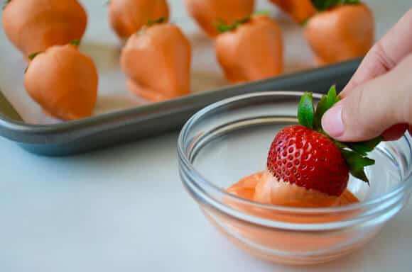 "Chocolate Mousse with Strawberry ""Carrots"" Recipe"