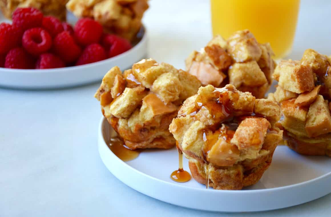 Just a Taste | Cinnamon French Toast Muffins