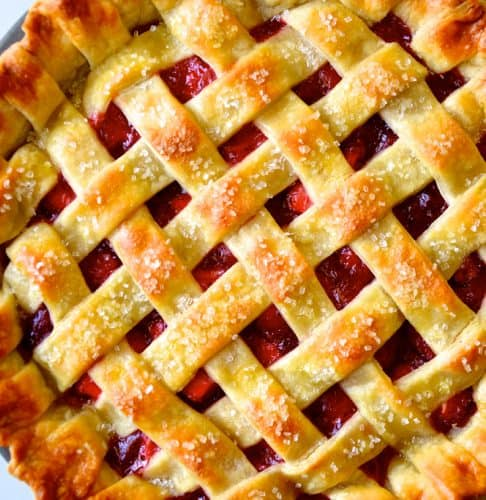 Easy Homemade Pie Crust - Lattice Pie Crust