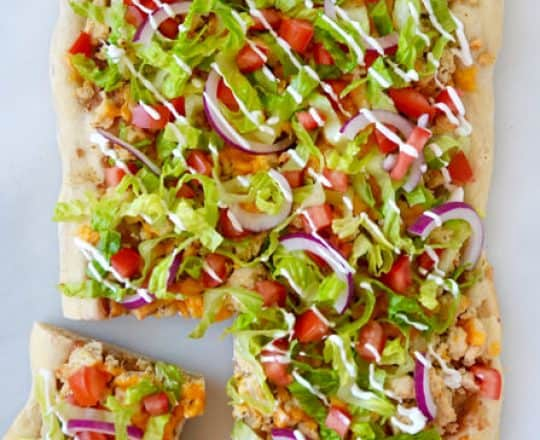 Cheesy Chicken Taco Pizza