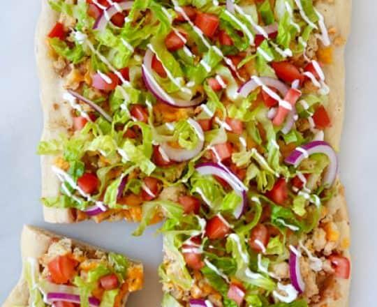 Cheesy Chicken Taco Pizza