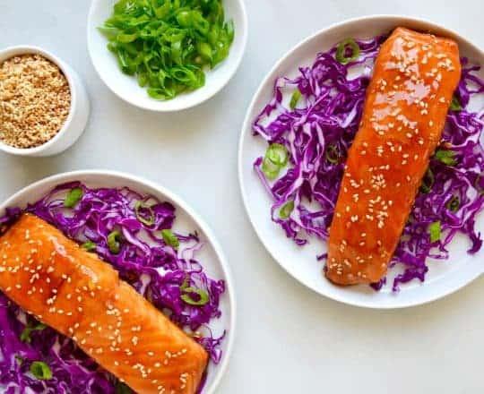 Baked Salmon with Honey-Garlic Glaze