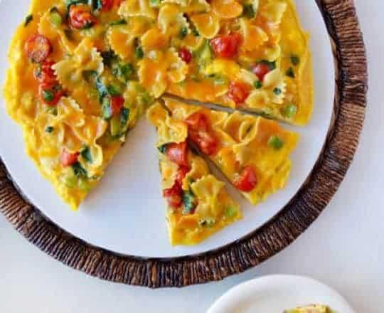 Leftover Pasta Frittata