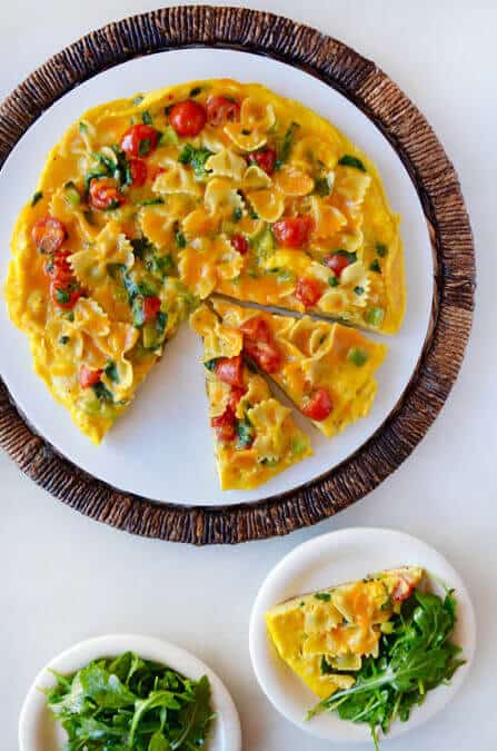 Leftover Pasta Frittata Recipe
