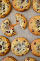 Caramel-Stuffed Chocolate Chip Cookies