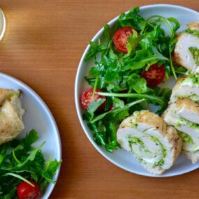 Cheesy Chicken Roulades with Pesto Recipe