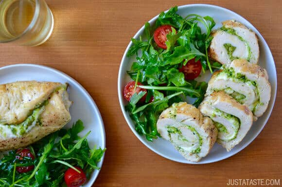 Cheesy Chicken Roulades with Pesto Recipe