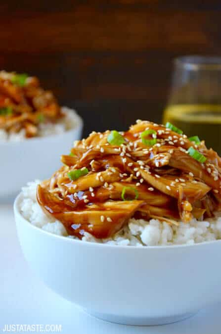Slow Cooker Pulled Chicken Teriyaki Recipe