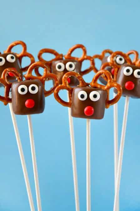 Chocolate Reindeer Marshmallow Pops Recipe