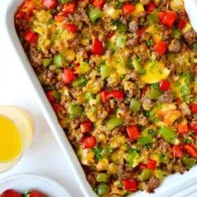 Overnight Egg Casserole with Breakfast Sausage Recipe