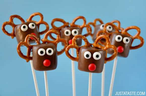 Chocolate Reindeer Marshmallow Pops Just A Taste