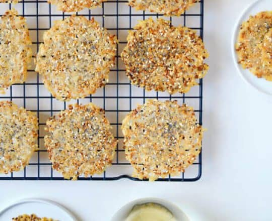 Everything Parmesan Cheese Crisps