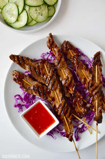 5-Ingredient Beef Satays Recipe