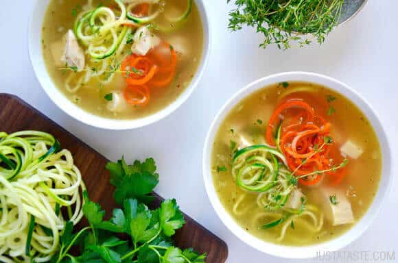 Zucchini Noodle Chicken Soup Recipe