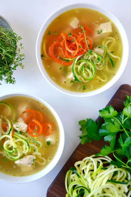 Zucchini Noodle Chicken Soup Just A Taste