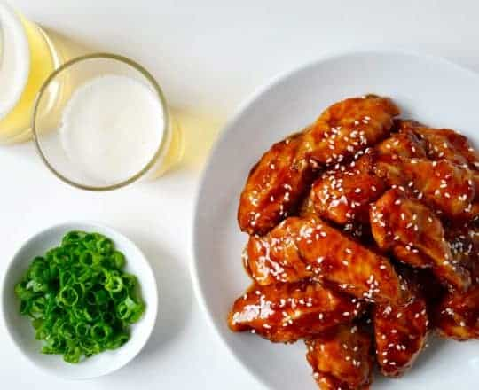 Crispy Baked Teriyaki Chicken Wings