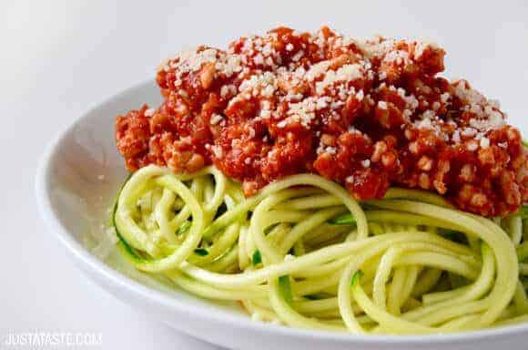 Spiralizer Recipes: Zucchini Noodles with Turkey Bolognese Recipe