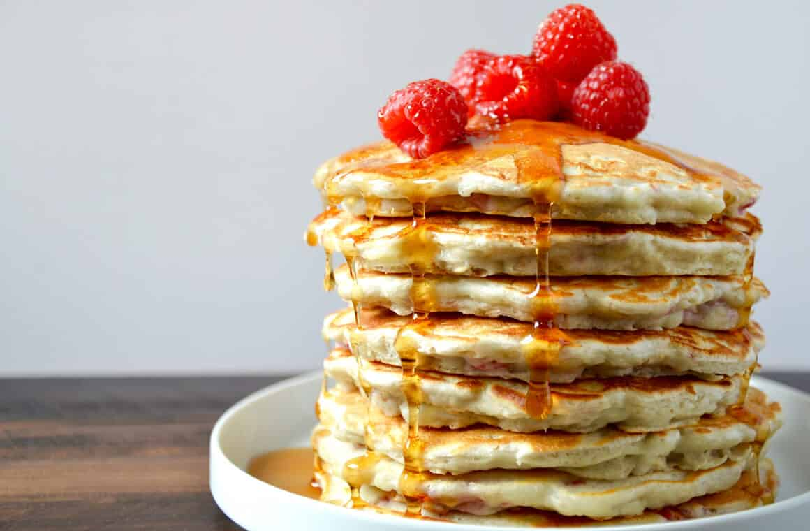 Pan Cake Recipes In Telugu: Raspberry Oatmeal Pancakes