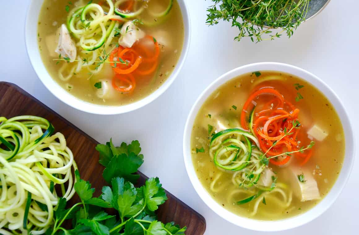 TUESDAY: Zucchini Noodle Chicken Soup