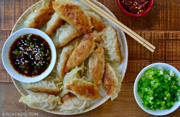 The best 30-minute recipe for easy chicken potstickers with quick-fix soy dipping sauce