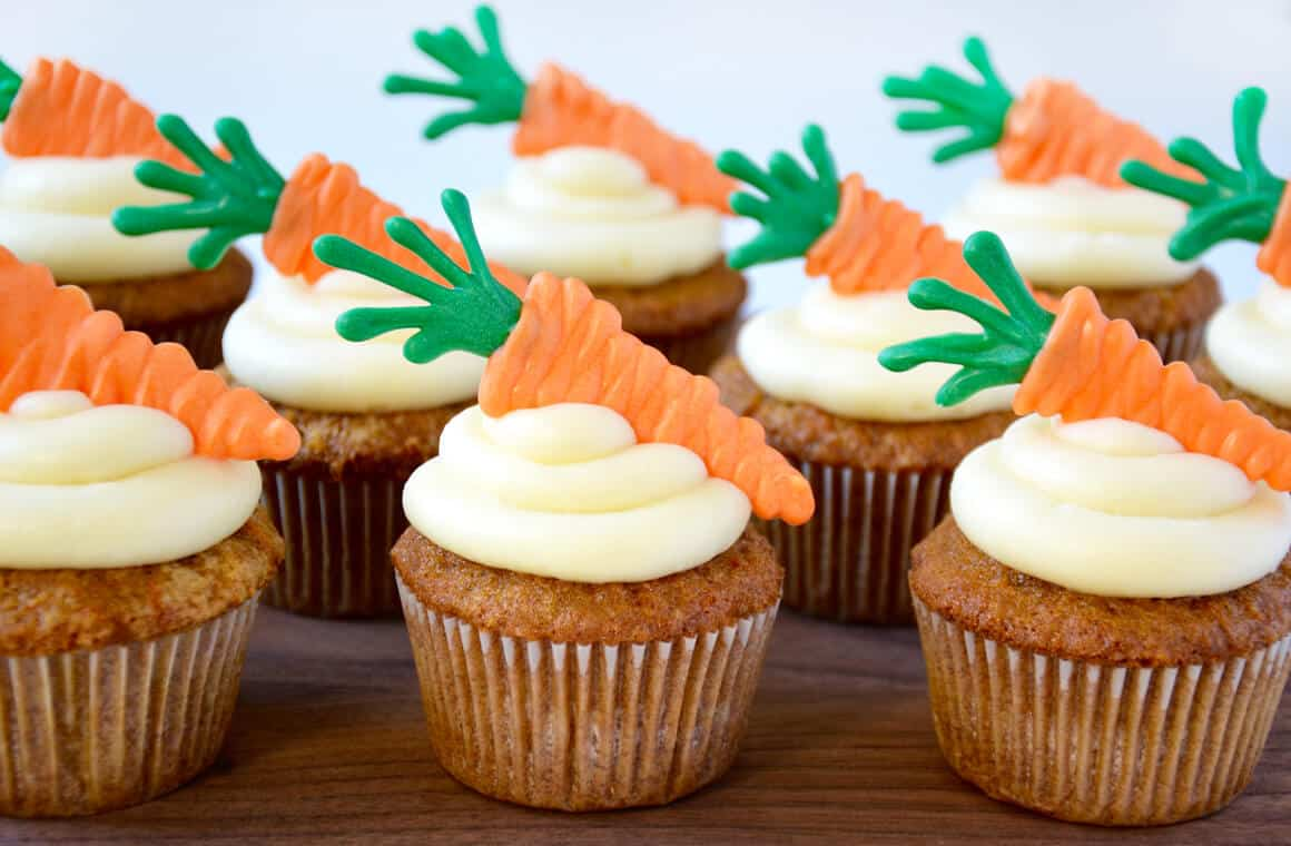 Image result for carrot cupcakes