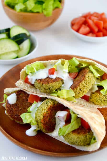 ... baked falafel perfect for tucking inside fluffy pita pockets or piling
