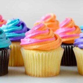 How to Pipe Two-Tone Swirl Frosting on justataste.com