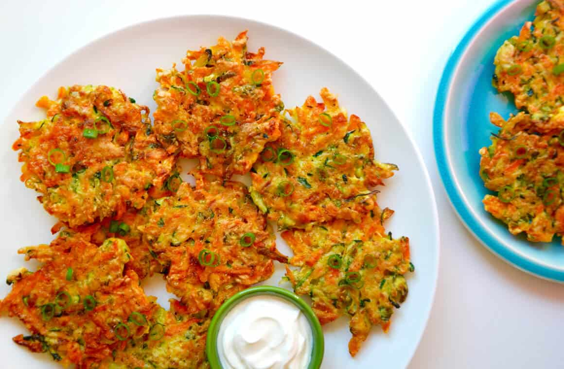 Quick And Crispy Vegetable Fritters Just A Taste