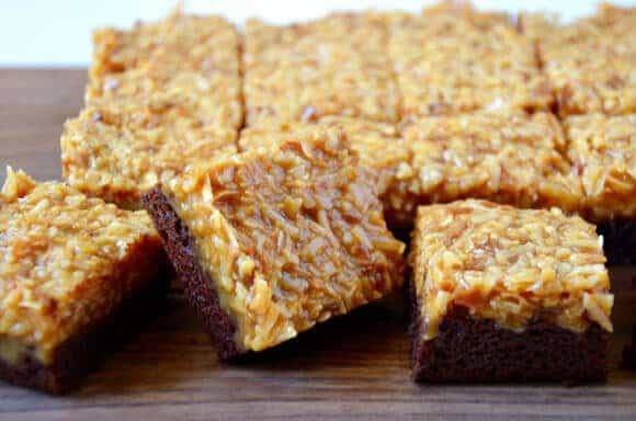 Samoas Coconut Caramel Brownies Recipe