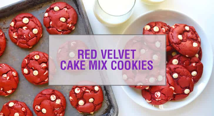 Red Velvet Chocolate Chip Cake Mix Cookies Recipe