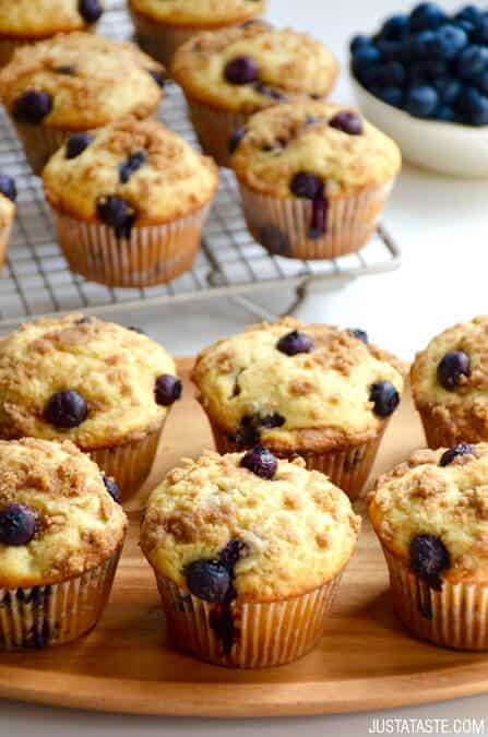 Blueberry Coffee Cake Muffins With Streusel Just A Taste