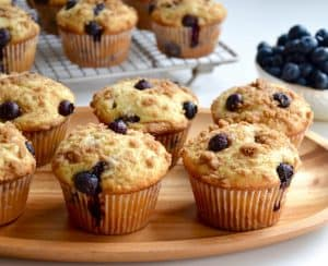 Blueberry Coffee Cake Muffins with Streusel