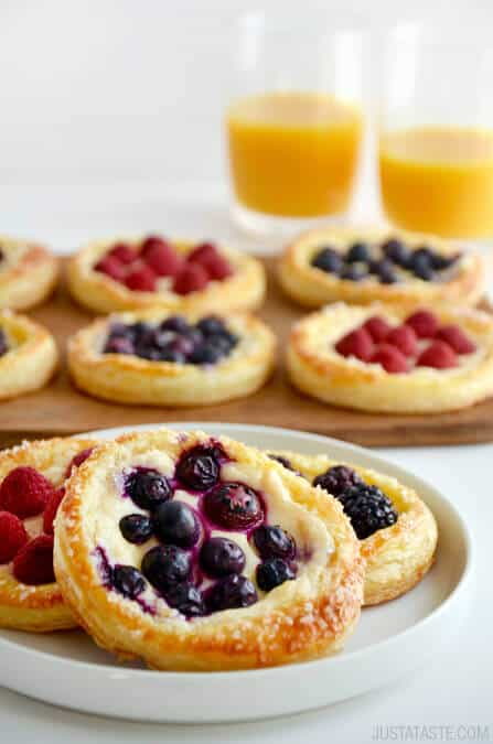 Just a Taste Fruit and Cream Cheese Breakfast Pastries