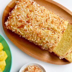 Glazed Pineapple Coconut Bread Recipe